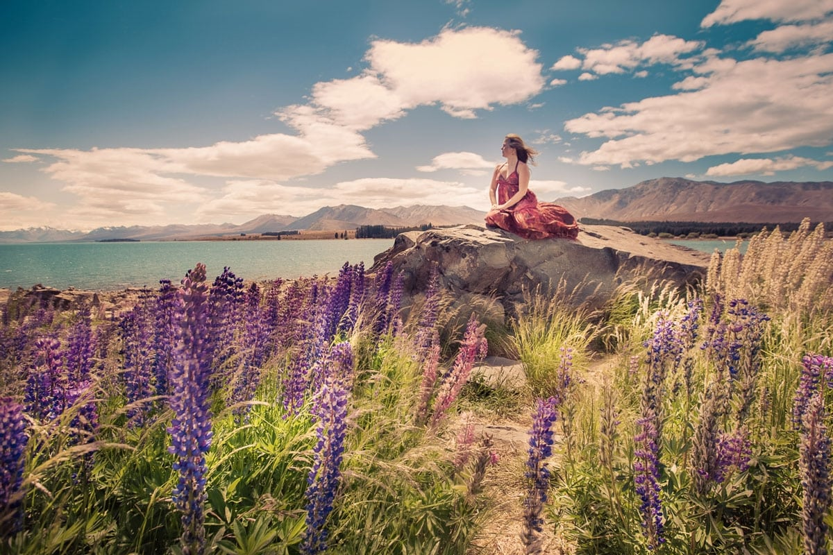 Tawna at Lake Tekapo, New Zealand