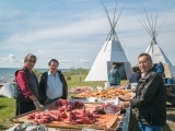 Feast in Aboriginal Community