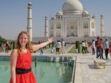 Tawna at Taj Mahal
