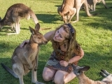 Tawna with Kangaroos