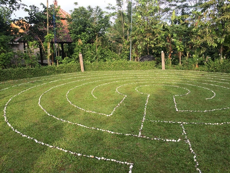 Bali Silent Retreat Labyrinth