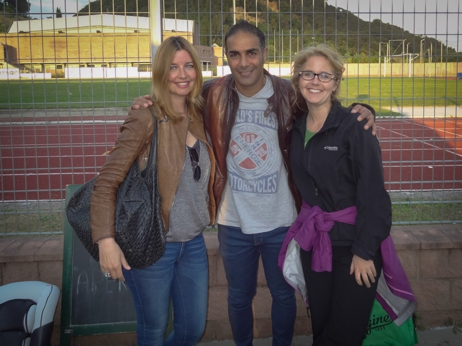 Cartagine59 Coach Mossi Bakshi with Farina Pahlke and Tawna Brown