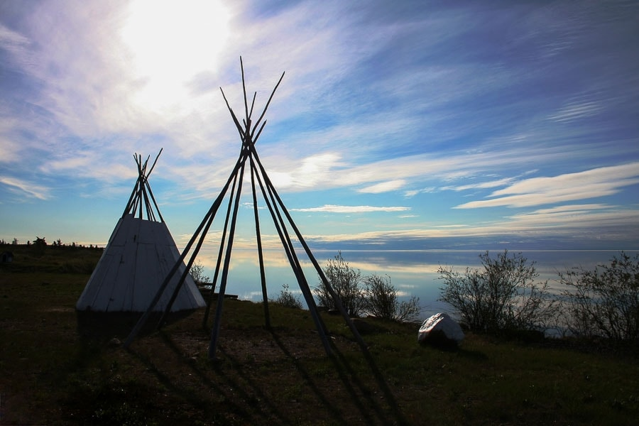 Teepees in Deline, Northwest Territories