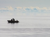 Boat in Great Bear Lake, Deline