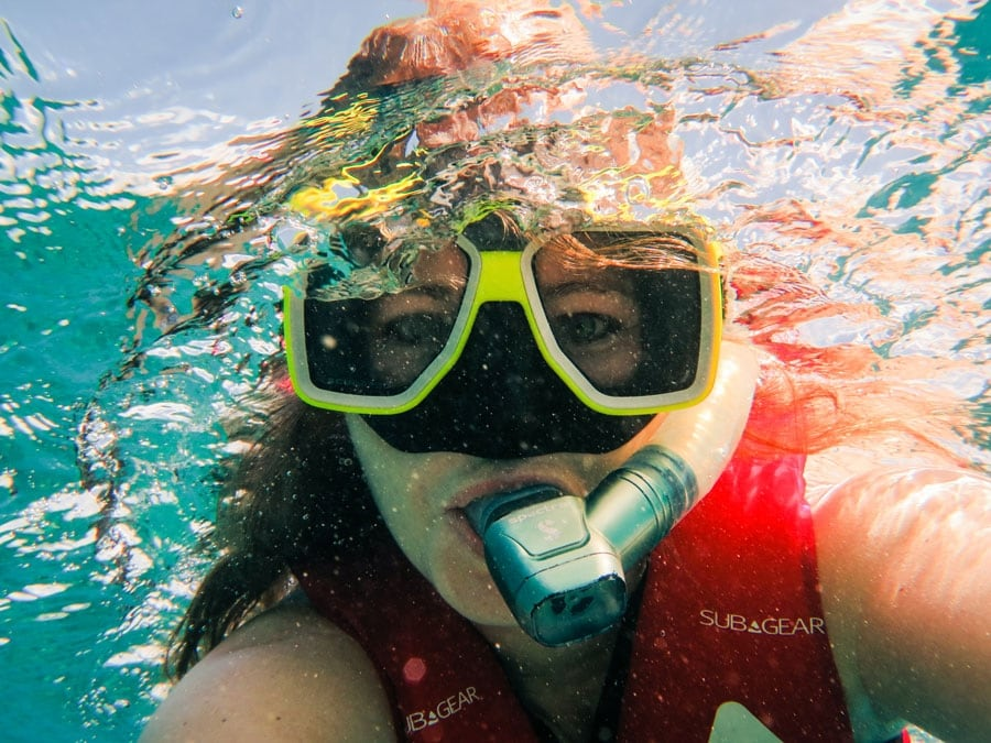 Tawna Snorkeling Down Under