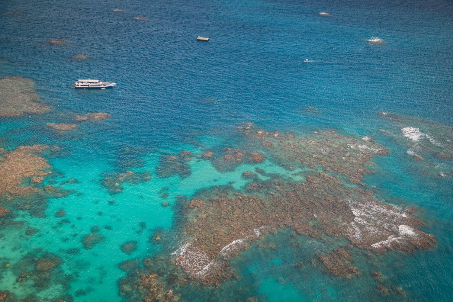Aerial of Great Barrier Reef