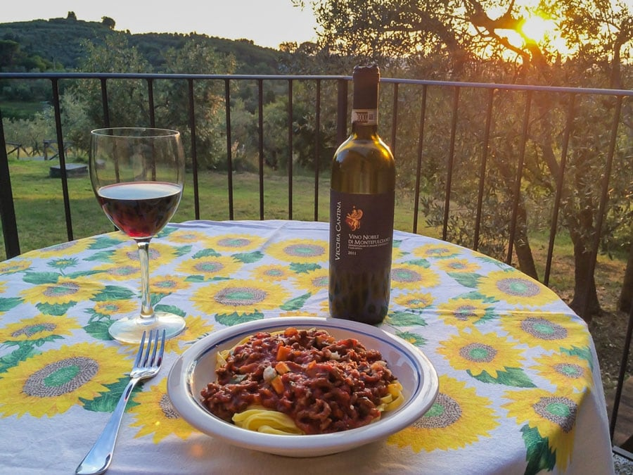 Dinner for One in Tuscany