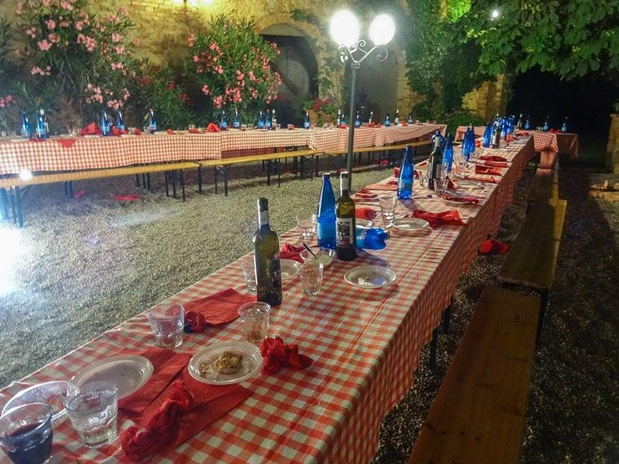 Contrada Dinner in Montisi