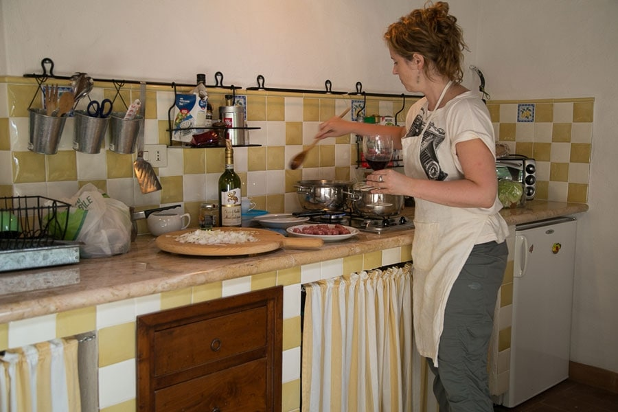 Tawna Cooking in Tuscany