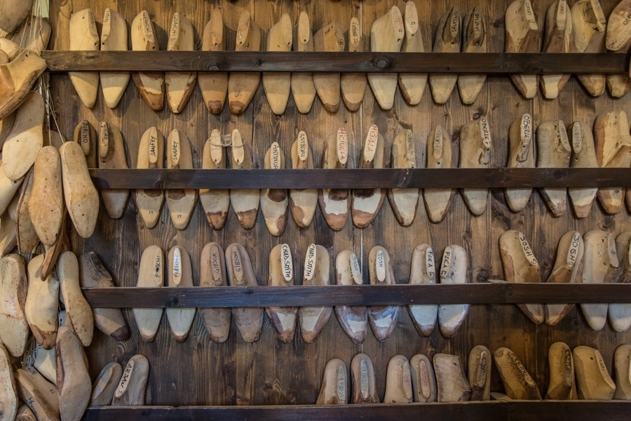 Shoe molds at Roberto Ugolini Firenze
