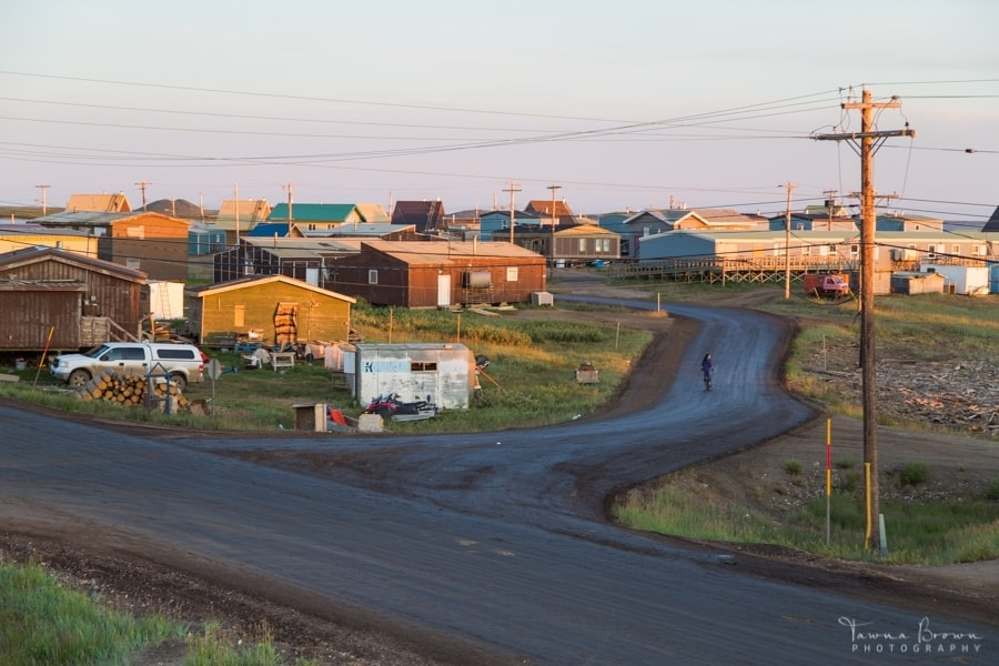 Tuktoyaktuk under the midnight sun