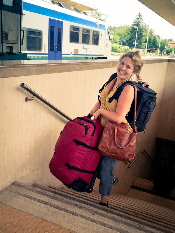 Tawna Brown with Luggage