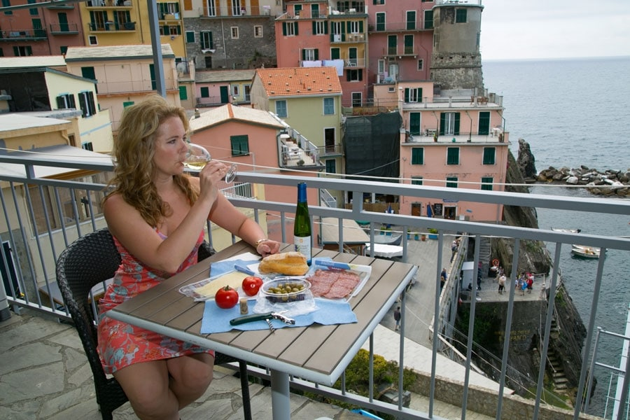 Lunch on the Terrace in Manarola