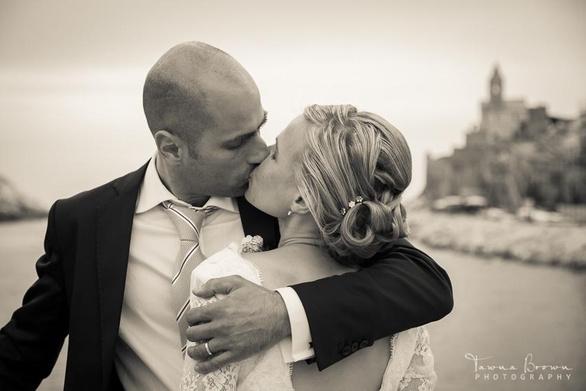 Newlyweds in Portovenere, Italy