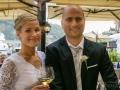 The Newlyweds at Wedding Reception