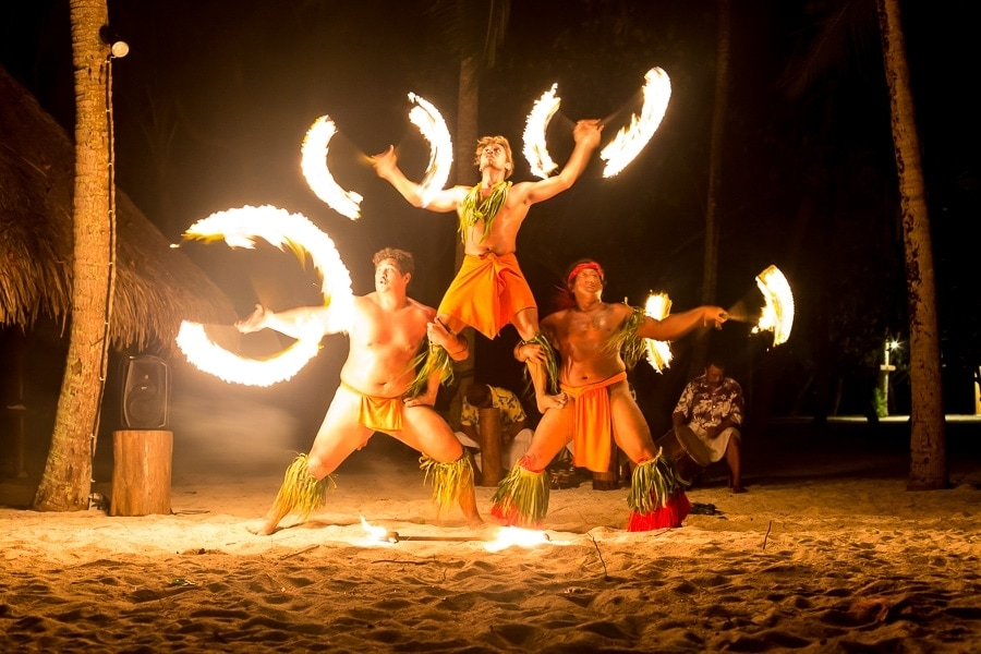French Polynesian Fire Dancers