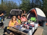 Friends at BBQ in Yellowknife