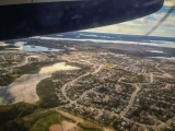 Aerial of Yellowknife
