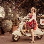 Tawna in Tuscany again! On a 1955 Lambretta! withaeroplan Ihellip