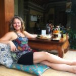 Having a relaxing lunch at Cafe Wayan in Ubud Balihellip