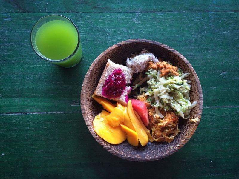 Food at Bali Silent Retreat