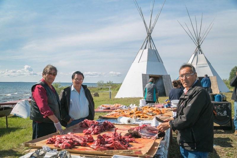 Feast in Aboriginal Community