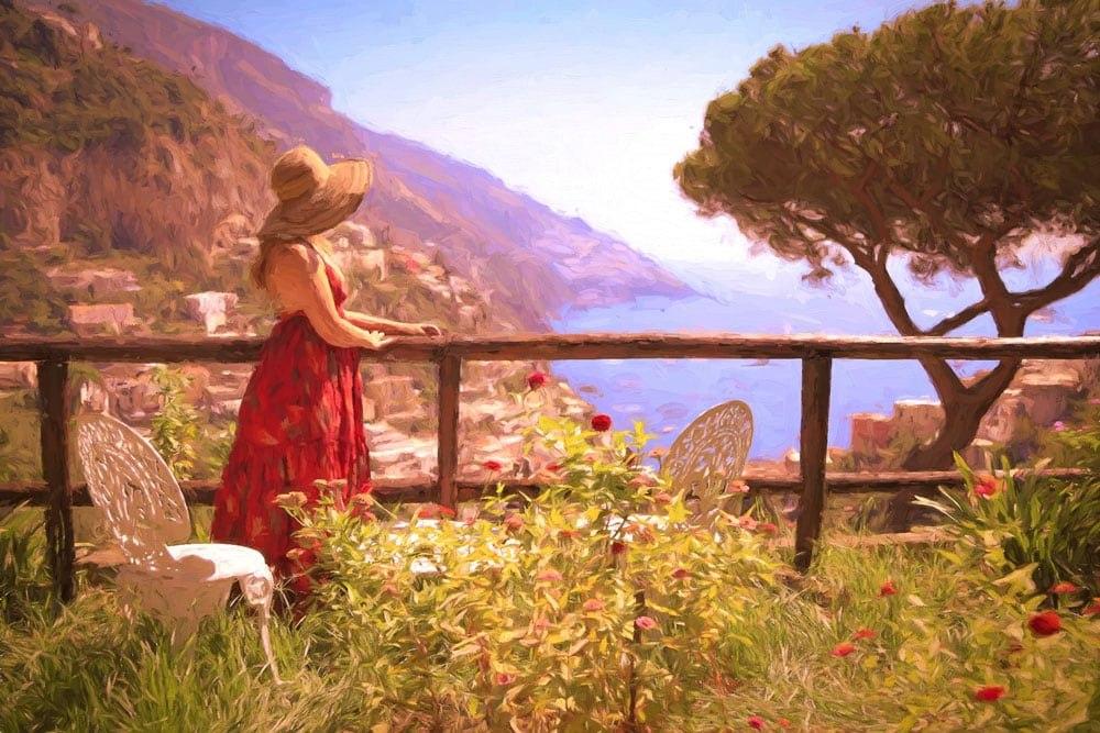 Tawna Brown in Positano, Italy