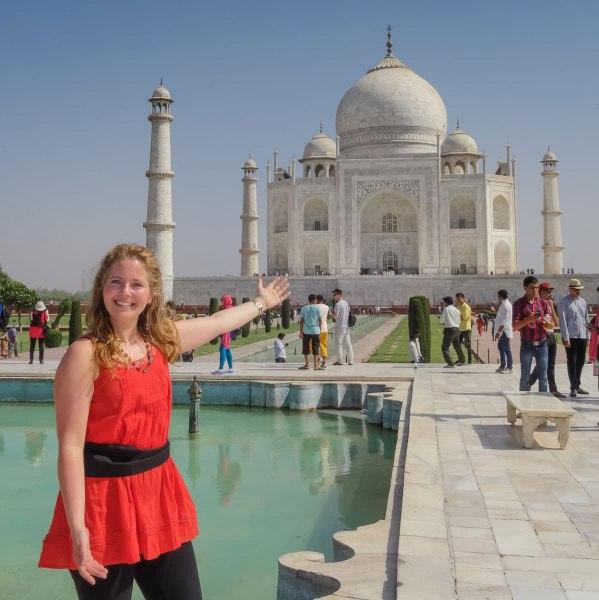Tawna at Taj Mahal
