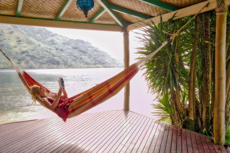 Tawna Relaxing in Hammock