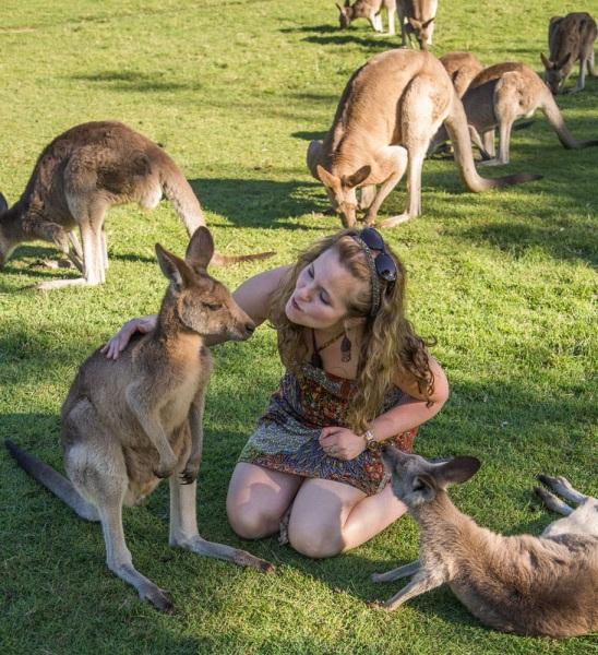 Tawna with Kangaroos