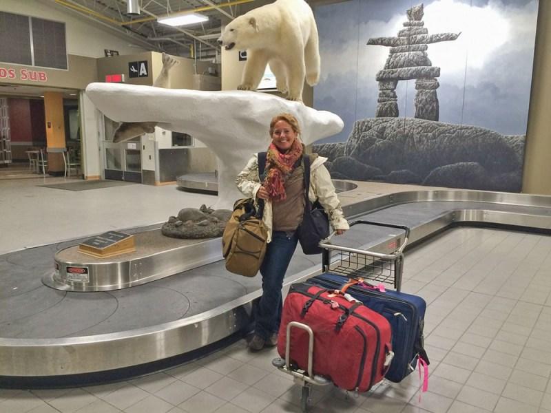 Tawna at Yellowknife Airport