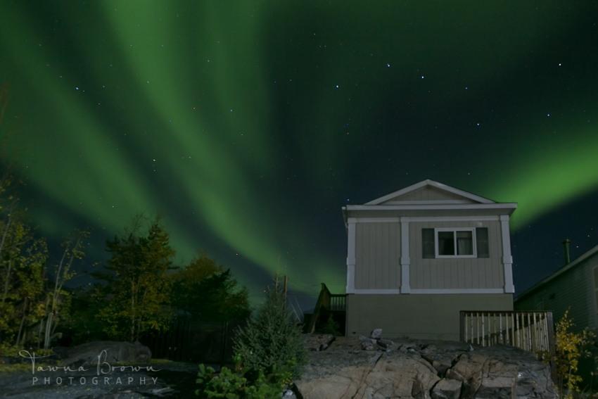 Aurora Borealis behind House