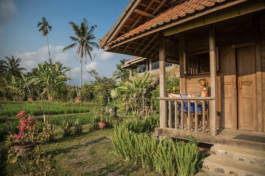 Morning at Bali Silent Retreat