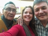 Tawna Brown with Alfred and David