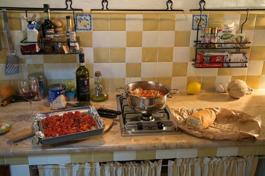 Cooking in Tuscany