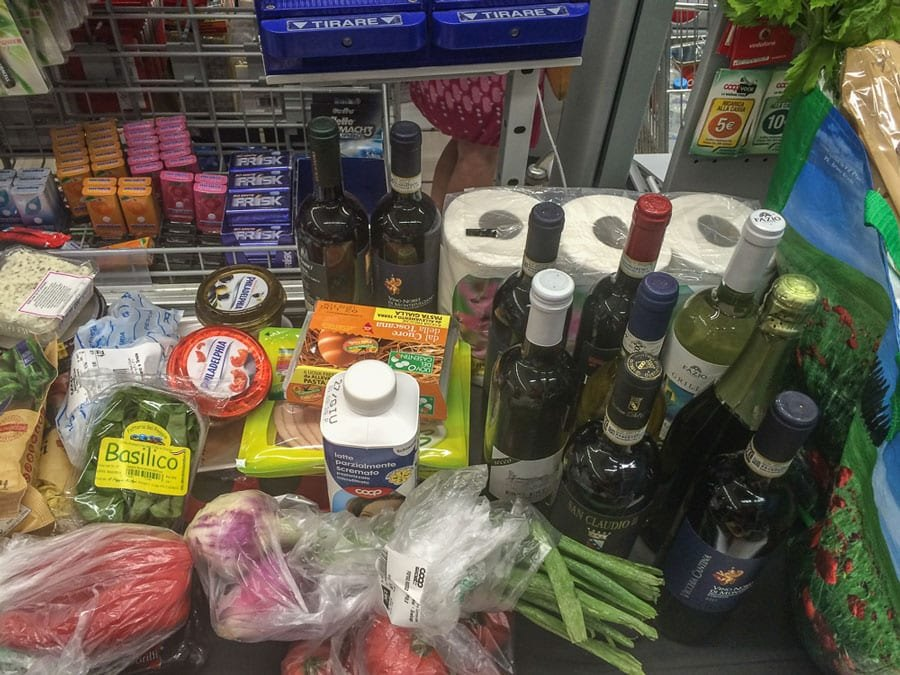 Grocery Shopping in Tuscany