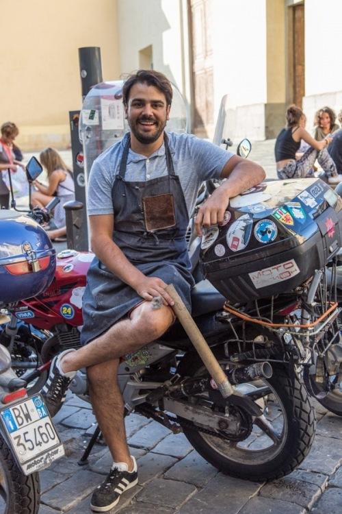 Federico with motorbike