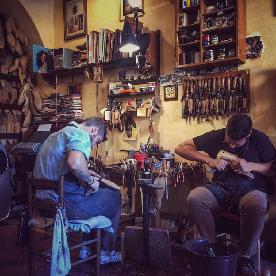 Shoemakers at Roberto Ugolini Firenze