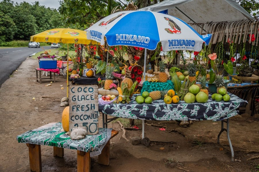 Roadside fruit stand on the Island of Moorea