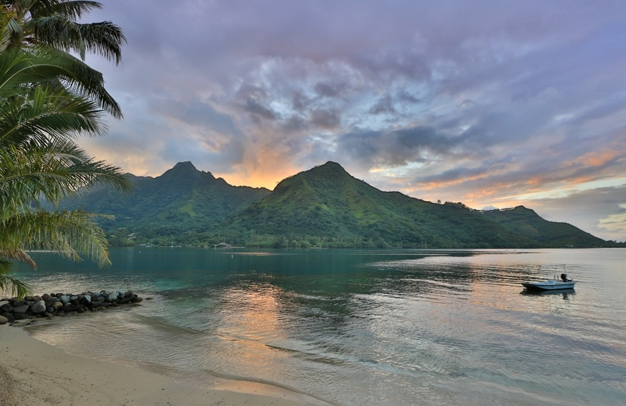 Sunset in Moorea