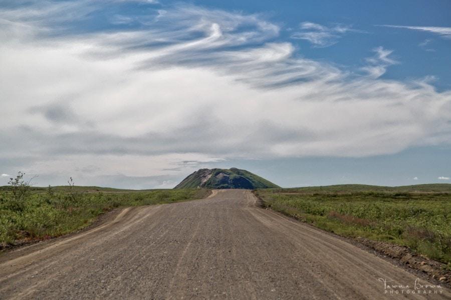Pingo along the Inuvik-Tuktoyaktuk Highway