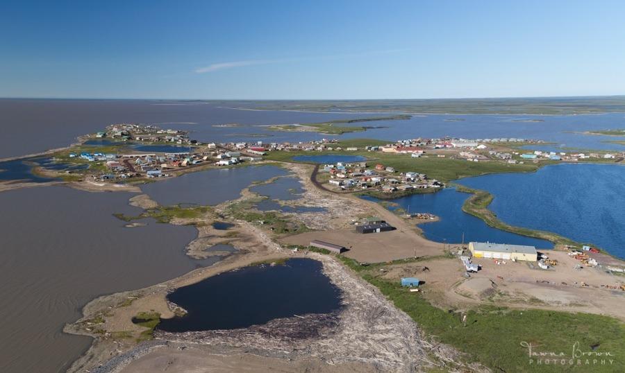 Aerial of Tuktoyaktuk in Summer