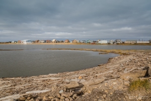 Hamlet of Tuktoyaktuk along shore of the Beaufort Sea
