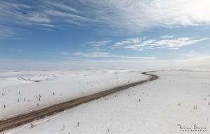 Inuvik-Tuktoyaktuk Highway in winter