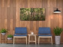 "Poplars and Fireweeds Canvas (18X38\"") Mockup"