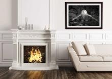 "Snowy Owl Framed Print (20x30\"") Mockup"