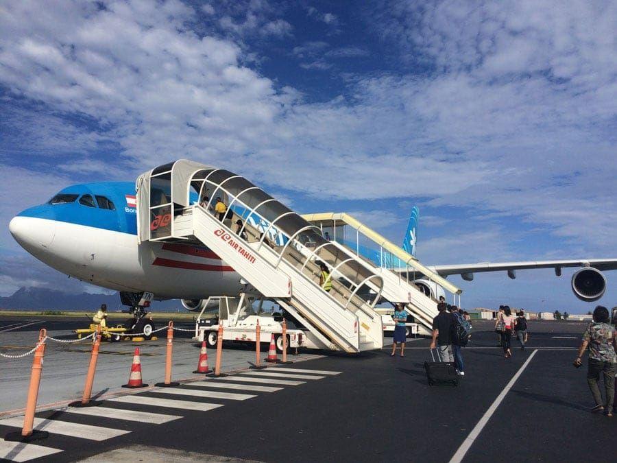 Boarding Air Tahiti Nui Plane