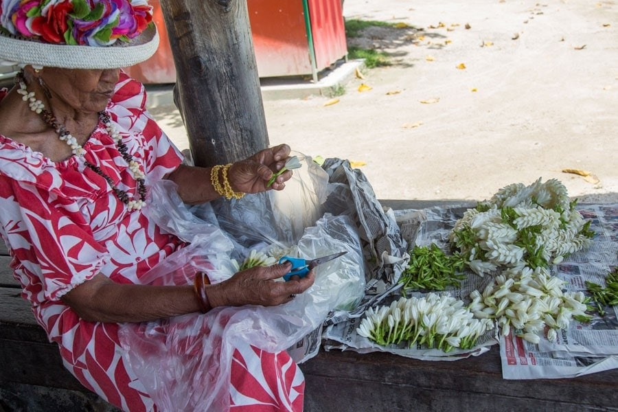 Tahitian fragrant tiare flower
