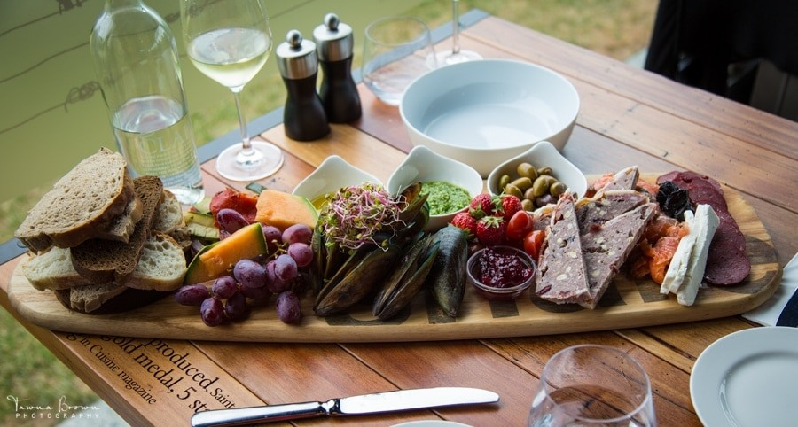 Lunch at Saint Clair Vineyard Kitchen, New Zealand