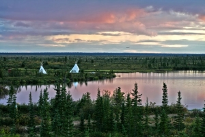 Teepees in Deline, Northwest Territories